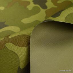 Tissu extérieur imperméable Camouflage envers PVC