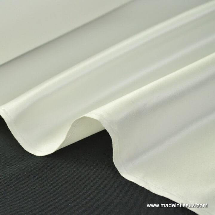 Satin duchesse polyester naturel
