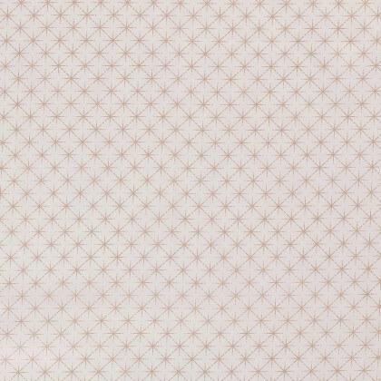 Tissu de Noël motif Etoiles or gold fond blanc cassé - Oeko tex