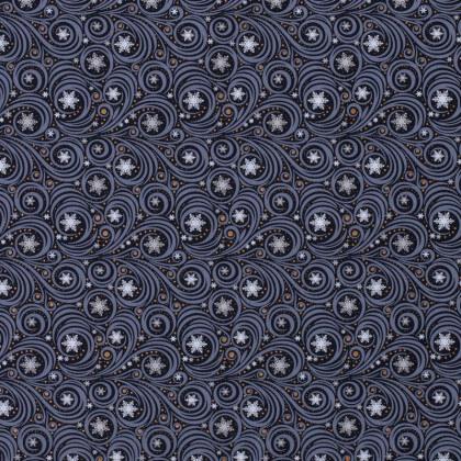 Tissu de Noël motif souffle du vent fond marine - Oeko tex