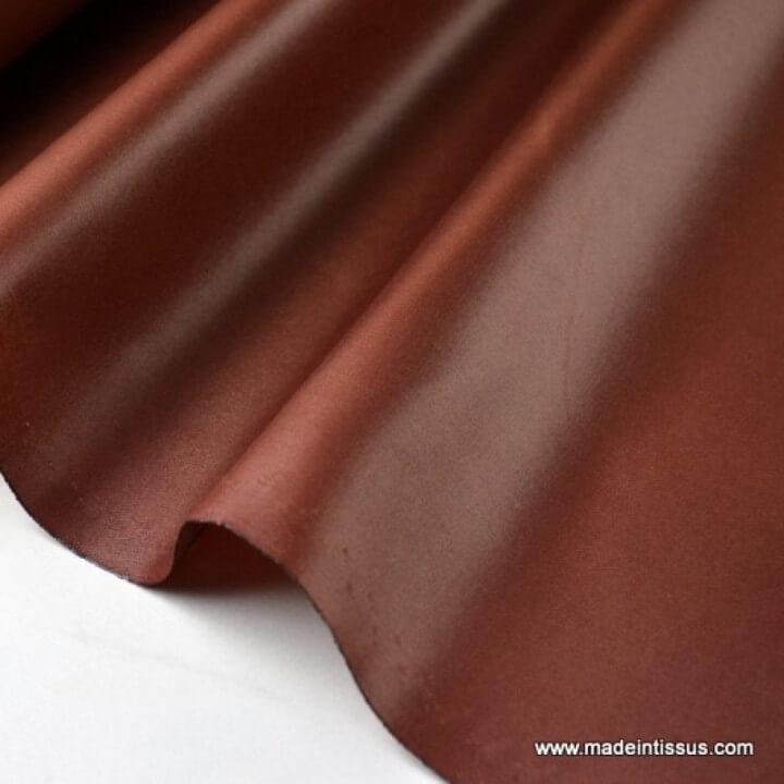 Tissu polyester marron cacao déperlant pour parapluie .