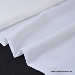 Crepe georgette polyester blanc .