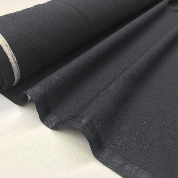 Tissu Toile polyester viscose pantalon marine