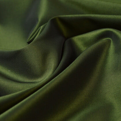 Tissu Taffetas changeant polyester noir anis