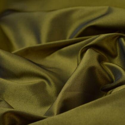 Tissu Taffetas changeant polyester noir jaune