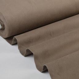 Tissu velours ras coton gris taupe pour confection pantalon