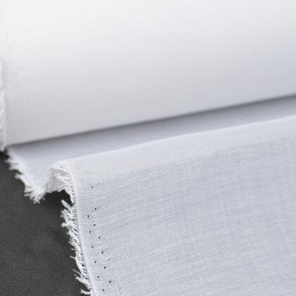 Voile organdi 100% coton blanc optique