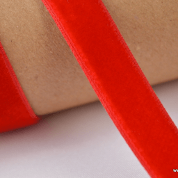 Ruban velours rouge, 16mm, .