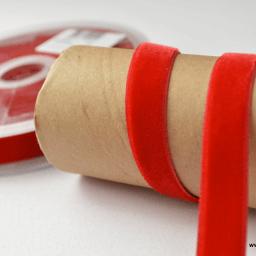 Ruban velours rouge 16mm