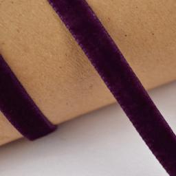 Ruban velours violet, 9mm, au mètre