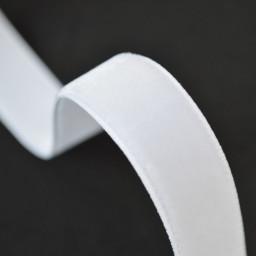 Ruban velours Blanc, 16mm, au mètre