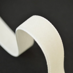 Ruban velours Crème, 16mm, au mètre