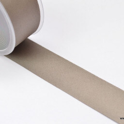 Ruban gros grain TERRE TAUPE, 38 mm, au mètre