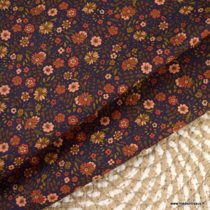 Tissu popeline Kokka collection Organic Lawn Botanical