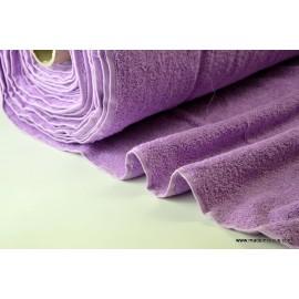 Eponge coton lilas lisiere cousue fermée