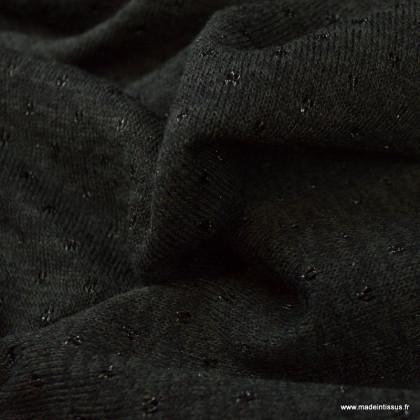 Jersey maille Lurex coloris noir