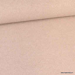 Jersey sparkling lurex maille tricot coloris Nude