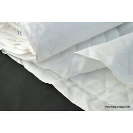 Coton blanc matelassé losange double face x50cm