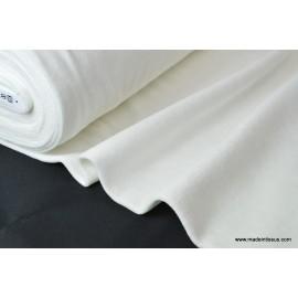 Tissu velours rasé pyjamas nicky blanc . x1m