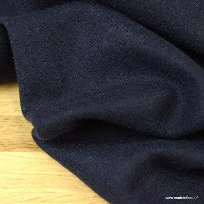 Drap de laine caban coloris bleu marine