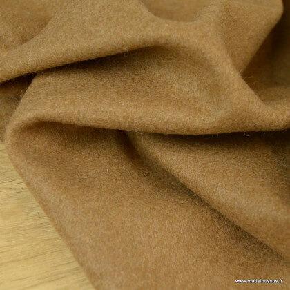 Tissu Drap de laine caban coloris camel