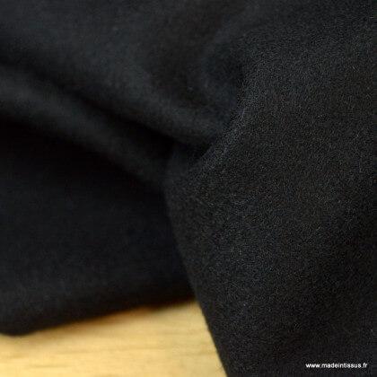 Tissu Drap de laine caban coloris noir