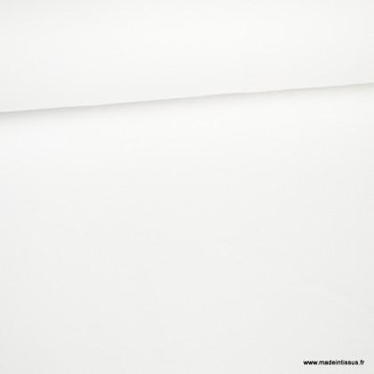 Tissu jersey piqué (maille polo) blanc - oeko tex