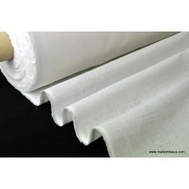 Tissu toile de lin naturel blanc par 50cm