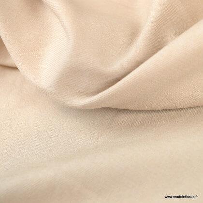 Tissu chino sergé Stretch Beige