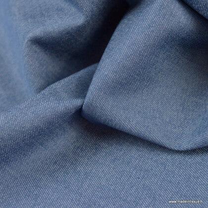 Tissu chino sergé Stretch bleu denim