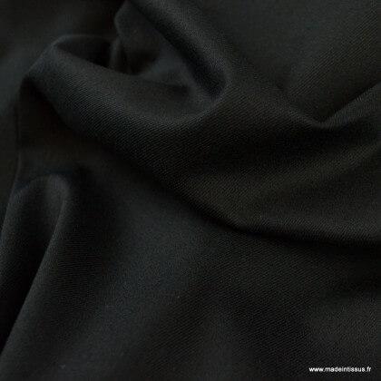 Tissu chino sergé Stretch Noir