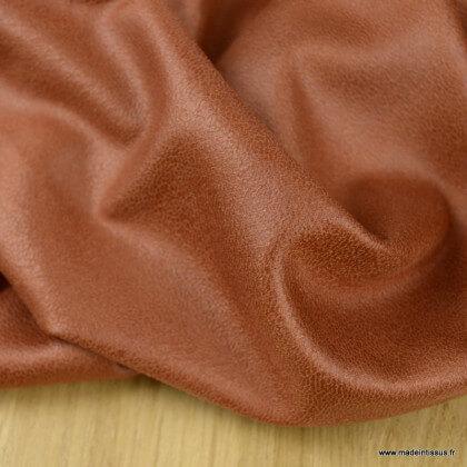 Tissu suédine stretch habillement terracotta