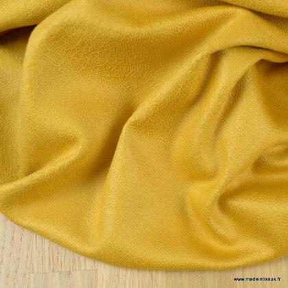 Tissu suédine stretch habillement Moutarde