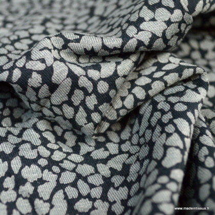 Tissu Jersey de Viscose motif petites tâches grises