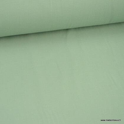 Tissu Gots Popeline en coton Bio & oeko tex coloris vert tilleul