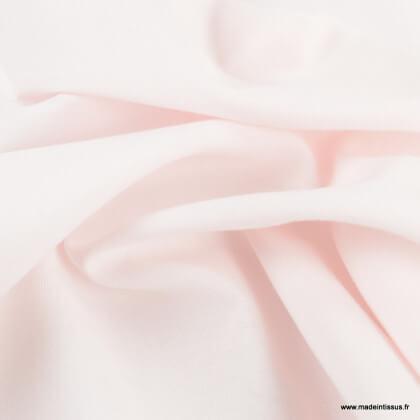 Tissu Gots Popeline en coton Bio & oeko tex coloris Rose poudré