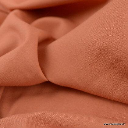 Tissu Gots Popeline en coton Bio & oeko tex coloris Caramel