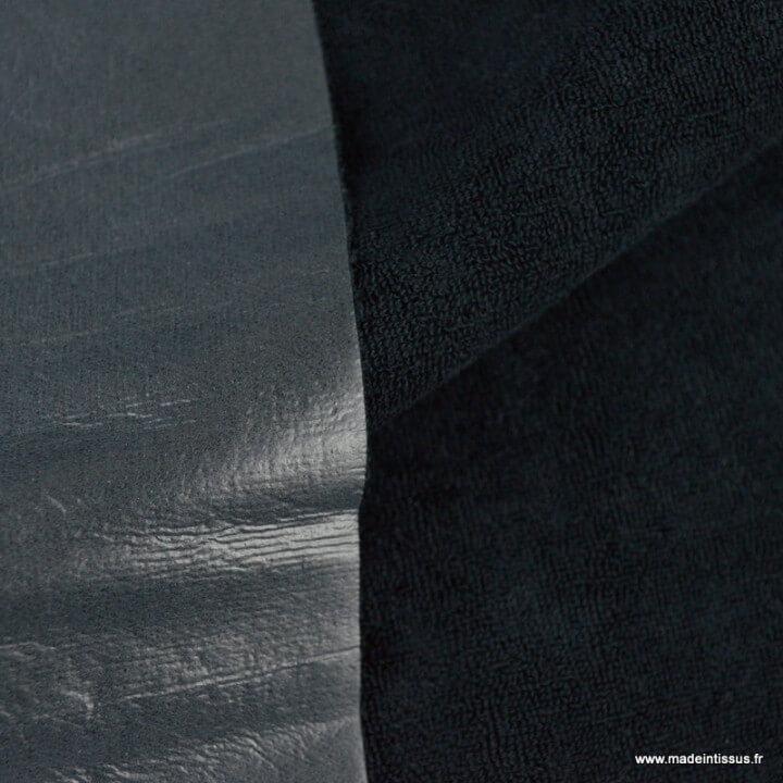 Micro éponge de bambou Noir envers Pul imperméable