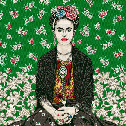 Carré / panneau en jacquard Magda cactus - Frida Kahlo