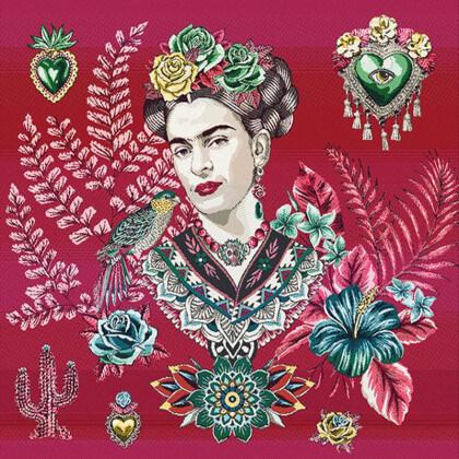 Carré / panneau en jacquard Artista Fuchsia - Frida Kahlo