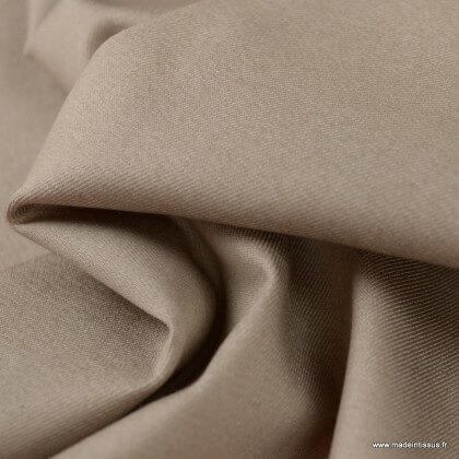 Tissu chino sergé Stretch Sable