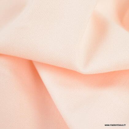 Tissu chino sergé Stretch Rose poudré
