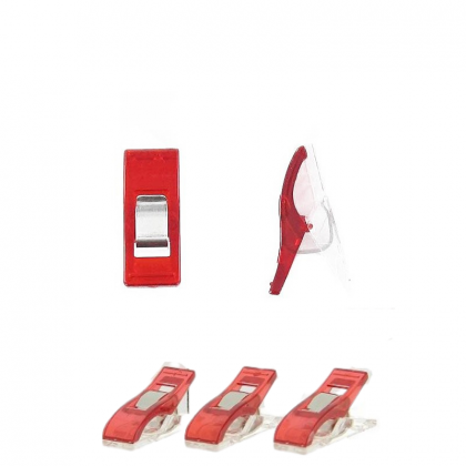 Pinces prodiges en sachet de 15 pièces - coloris rouge