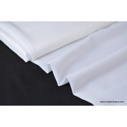 Crêpe georgette vanessa coloris blanc 100% polyester 150cm 95gr/m²