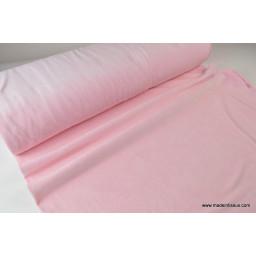 Velours rasé NICKY rose09 90%coton 10%pes 150cm 240gr/m²