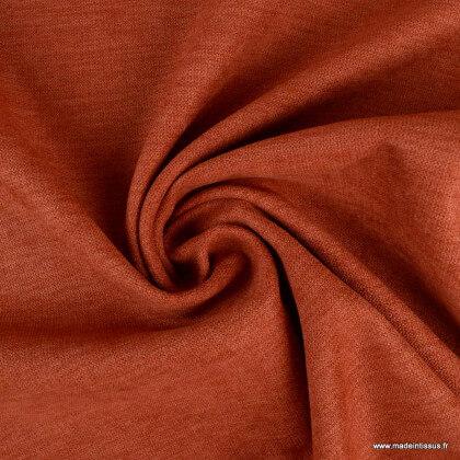 Tissu isolant thermique occultant terracotta