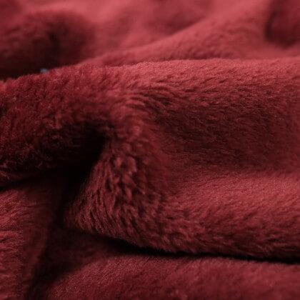 Tissu doudou ultra doux, lourd Bordeaux