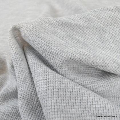 Tissu jersey nid d'abeille Gris - oeko tex