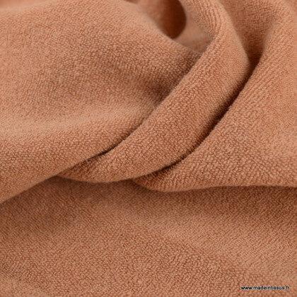 Tissu Eponge bouclette cassonade 100% coton