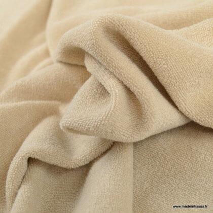 Tissu Eponge bouclette Lin 100% coton